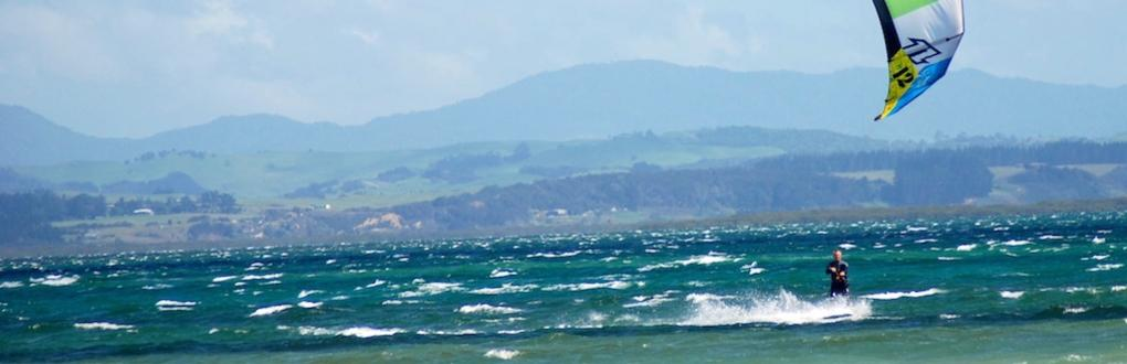 mark kitesurfing hire rental new zealand